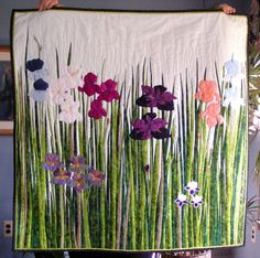 Beautiful Iris Quot Fracture Quot Quilt By Joanne Baeth Made In