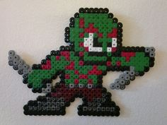 Guardians of the Galaxy - Drax (Mega Man style) perler beads by ...
