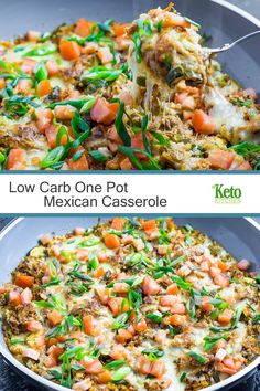 Our Low Carb One Pot Mexican Casserole is good old comfort food, without the…