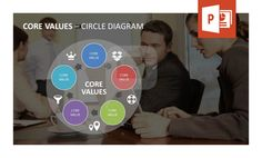 Our modern circle diagram specifically designed to present company core values enables you to finish your presentation quickly and without worries. The template can easily be adapted to personal ideas and principles within few clicks and will help you present your core values clearly. Find out more about our new set on http://www.presentationload.com/company-core-value-powerpoint-template.html