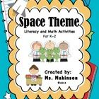 Space Themed Activities - Great to accompany an INQUIRY unit about space in kindergarten, grade one or grade two.  Below you can find the grade I f...