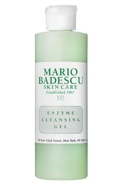 Mario Badescu Enzyme Cleansing Gel  - I am never without this cleanser.  It even removes makeup and can be rinsed or wiped off!