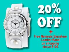 Choose Nemesis Watches as Christmas Gift for Your Love-one. 20% Off on All Watches + Free Nemesis Signature Leather Band on shopping above $100. Buy Now at www.NemesisWatch.com