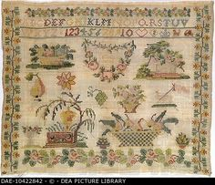 A 19th Century German Sampler Undated ~ DEA PICTURE LIBRARY