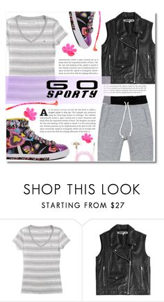 """""""Go Sporty!"""" by dolly-valkyrie ❤ liked on Polyvore featuring Tommy Hilfiger, McQ by Alexander McQueen, Forever 21 and sportystyle"""