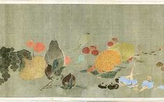 菜蟲譜[さいちゅうふ]部分, 1790, Jakuchu Ito  伊藤若冲