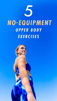 With the holiday season upon us, we know how busy this time of year can be, and we want you to feel your best no matter what your schedule throws your way. Today, we're showing you five no-equipment moves you can do anywhere Muscle Fitness, Fitness Tips, Health Fitness, Hiit, Yoga, Workout For Beginners, Upper Body, Excercise, Stay Fit