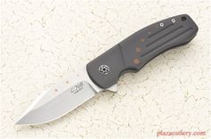 Chad Nell Templar Flipper with Black Titanium and a Harpoon Style Blade Custom Knives.