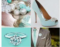 Tiffany blue winter wedding.