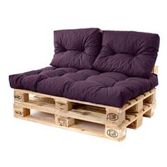 Pallet Sofa Cushions Waterproof Fabric Euro Pallet Size for Outdoor Garden Seats – Sofa Design 2020 Diy Sofa, Wood Pallet Couch, Pallet Furniture Cushions, Diy Pallet Sofa, Couch Furniture, Cushions On Sofa, Pallet Bed Frames, Pallet Headboards, Pallet Lounge