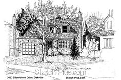 House Sketch of 3033 Silverthorn Drive, Oakville