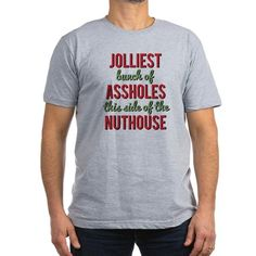 jolliest bunch of assholes t shirt - Funny Christmas T Shirts