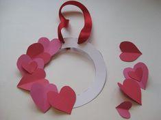 Moms Valentine craft, handprint flower