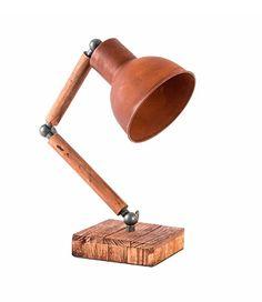 Tischlampe Stehlampe INDUSTRIE   DESIGN Atelier, Loft   Verstellbar    Materialmix Rost / Holz /