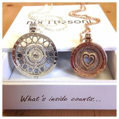 """Fabulous Collections: """"Mix it up with a #rosegold and #silver Nikki Lissoni set! #NikkiLissoni #jewellery #weekendstyle #necklace #heart"""" -xx-"""