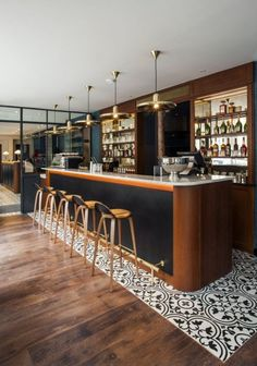 Andre Latin Hotel bar design and placement