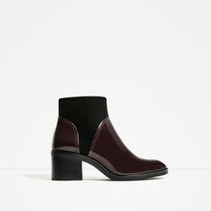 Image 2 of CONTRAST HIGH HEEL ANKLE BOOTS from Zara