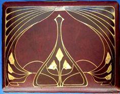 Art Nouveau leather album cover
