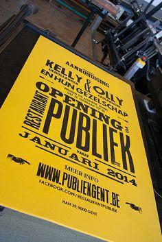 Poster for restaurant Publiek (Gent)