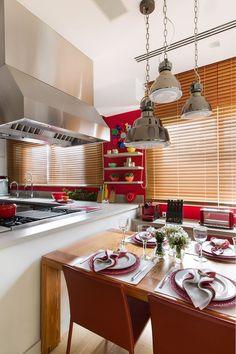 Décor do dia: cozinha integrada e colorida