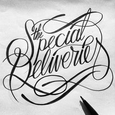 The Special Deliveries typography