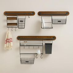 Modular Kitchen Wall Storage Collection from Cost Plus World Market's New Woodland Retreat Collection >> #WorldMarket Home Decor Ideas