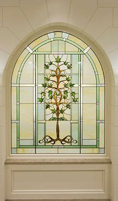 stained glass window Laie hawaii lds temple -