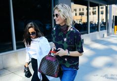 Spotted at #NYFW: Zanita Whittington and her Louis Vuitton bag! Photograph by Phil Oh for @voguemagazine