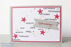 Geburtstagskarte mit dem Perpetual Birthday Calendar Set von Stampin' Up!
