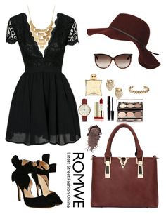 """Romwe 10"" by amra-f ❤ liked on Polyvore featuring Tom Ford, Charlotte Russe, Black Rivet, Kate Spade, FOSSIL, Lucky Brand, Hermès, 1d, romwe and 5sos"