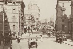 Intersection of Hunter St at Pitt St,in Sydney in 1895.