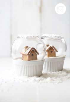 edible snow globe | 25+ Cute Christmas Treats