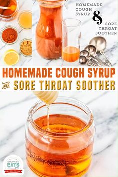 Recipe for Homemade Cough Syrup and Sore Throat Soother