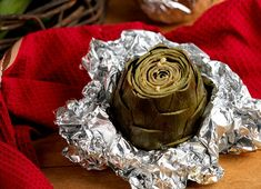 Roasted Artichokes with garlic - Easy and Delicious (add extra garlic!)