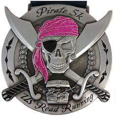 US Road Running - Pirate (Red Treasure) - 157 - Virtual race, June Running Medals, Running Race, Marathon Running, Trail Running, Best Treadmill Workout, Cardio, Virtual Run, Race Bibs