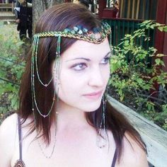 Elven Forest Woodland Headdress by Thyme2dreamWeddings on Etsy, $150.00