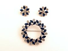 B David Crystal and Capri Blue Demi Parure   by TheBirdcageVintage, $74.99 #vintage #etsy
