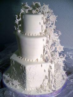 snow flake  blizzard cake