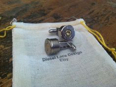 Bullet+cufflinks+Colt+45+nickel+plated+silver+by+DieselLaceDesign,+$25.95