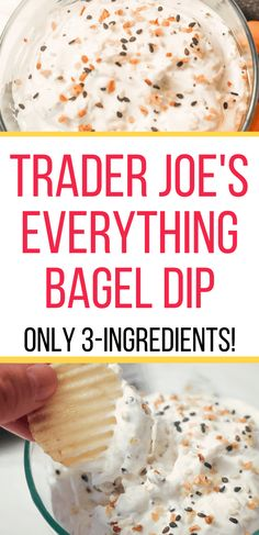 Are you looking for uses for the Everything Bagel Seasoning you bought at Trader Joe's? This easy, cold dip recipe is perfect with chips or crackers. Make a batch of Everything Bagel Dip for the appetizer table at your next party and watch it disappear! Cold Appetizers, Easy Appetizer Recipes, Appetizers For Party, Easy Appitizer, Easy Party Dips, Delicious Appetizers, Appetizer Dips, Easy Snacks, Oreo Dessert