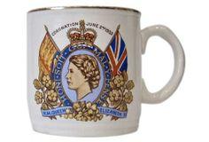 English Commemorative Coronation Mug, 1953