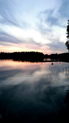 Beautiful cedar lake on camp rokilio docks