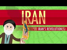 Iran's Revolutions: Crash Course World History 225 by thecrashcourse: In which John Green teaches you about Iran's Revolutions. Yes, revolutions plural. What was the 1979 Iranian Revolution about? It turns out, Iran has a pretty long history of unrest in order to put power in the hands of the people, and the most recent revolution in 1979 was, at least at first, not necessarily about creating an Islamic state. It certainly turned out to be ab