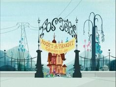Love the colors and the background artwork for Fosters Home for Imaginary Friends
