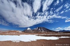Volcanoes snow & cloud in the Atacama Desert Chile.  #EarthCapture by Mauro JR Silva.  Share your best photos and video of our incredible Earth with the #EarthCapture community: link in bio by bbcearth