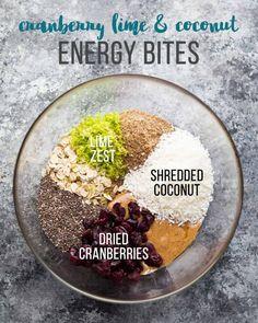 Cranberry, Lime & Coconut Energy Bites
