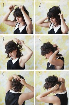 Throw on a headband and tuck all your hair through it for a super simple updo.