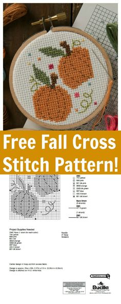 Pumpkins, oh my! We're welcoming fall with this adorable free harvest-themed free cross stitch pattern download from our Bucilla team! We love the idea of making several of these to use within your Thanksgiving tablescape as place card holders.