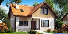 www.proiectari.md Proiect de casa cu mansarda 221Proiecte de Case | Proiecte de…