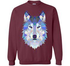 Geometric Wolf Triangular Design T-Shirt t-shirt